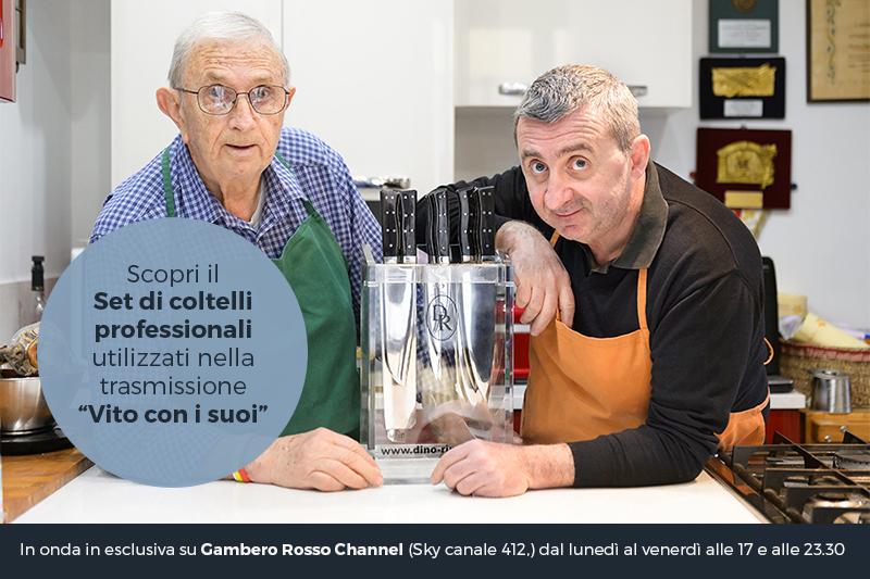 Coltelli da Cucina per Vito con i Suoi su Gambero Rosso TV
